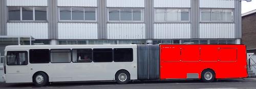 Publicité électroluminescente sur la moitié ou total covering du bus