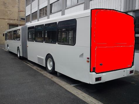 Covering électroluminescent de l'arrière du bus