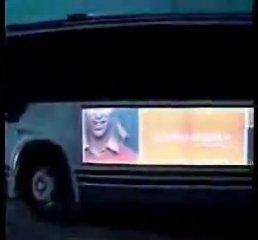 publicité électroluminescente autocar