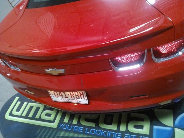 Chevrolet Camaro arrivant à l'atelier pour pose de film covering