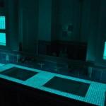 Salle de bain électroluminescente