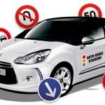 """Covering et pose de stickers sur carrosserie d""""une voiture-école"""
