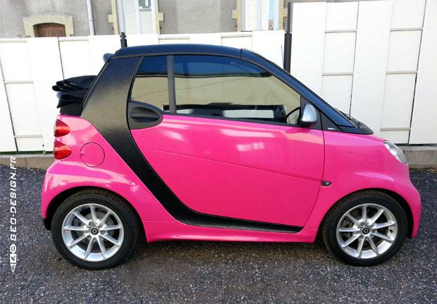 Covering partiel d'une automobile Smart