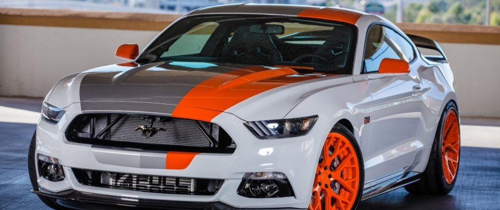 Partial Covering Ford Mustang